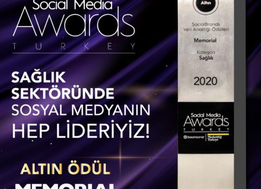 Memorial, Social Media Awards Turkey 2020'de altın aldı