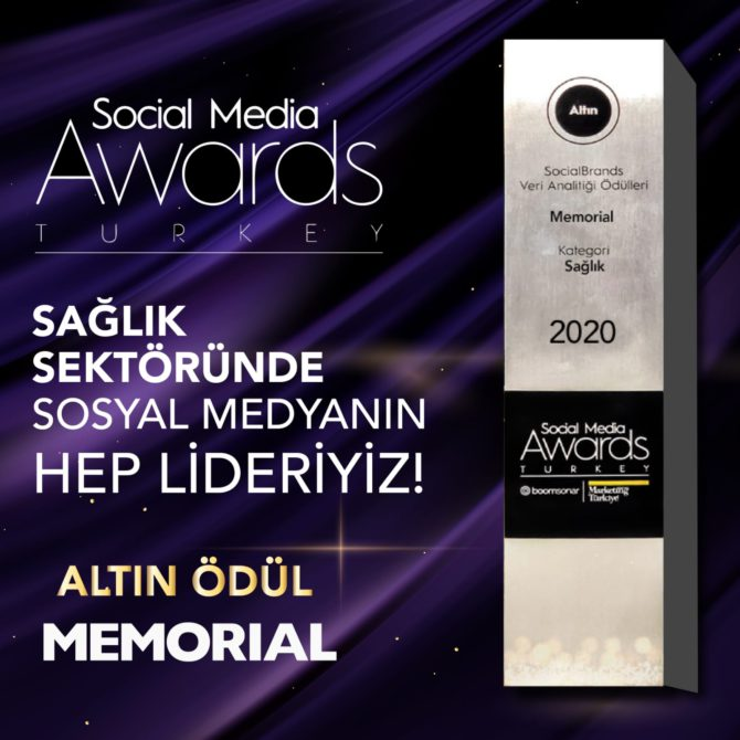 Memorial, Social Media Awards Turkey 2020'de altın aldı