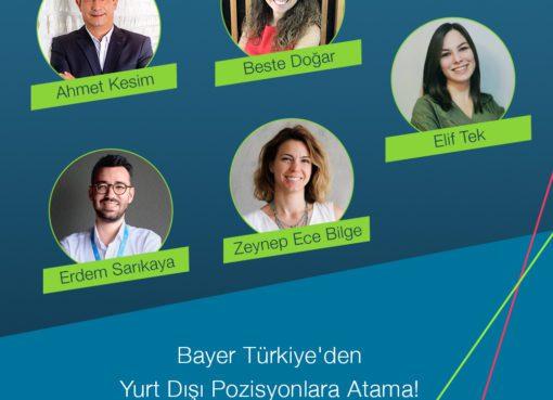 Bayer Türk'ten 5 Türk yönetici global pozisyonlara atandı!