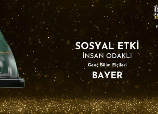 """Bayer Genç Bilim Elçileri Projesi'ne """"Sosyal Etki"""" ödülü!"""
