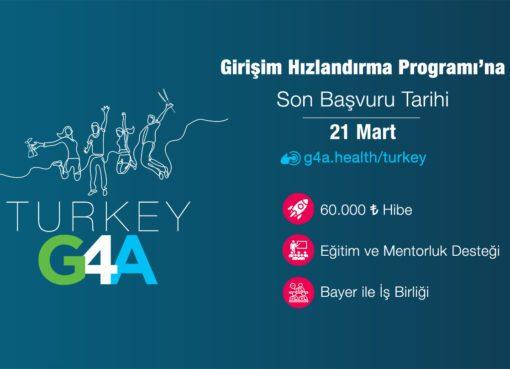 Bayer'in bu yıl dördüncüsünü düzenlediği G4A Turkey 2021 Girişim Hızlandırma Programı'na başvurmak için son 5 gün...