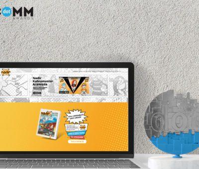"""'Nadir-X' projesi,dotCOMM Awards reklamcılık ve pazarlama yarışmasında""""Web site"""" kategorisinin""""Sağlık ve Yaşam"""" alanındaen iyi projesi seçildi."""